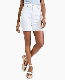 Petite Denim Bermuda Shorts, Created for Macy's