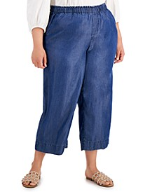 Plus Size Cropped Pull-On Pants, Created For Macys