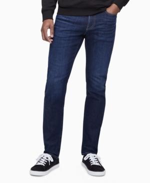 Calvin Klein Jeans MEN'S SLIM FIT FLINT DARK HIGH STRETCH JEANS