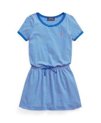 폴로 랄프로렌 Polo Ralph Lauren Little Girls Striped Cotton Jersey T-shirt Dress