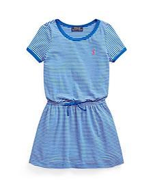 Little Girls Striped Cotton Jersey T-shirt Dress
