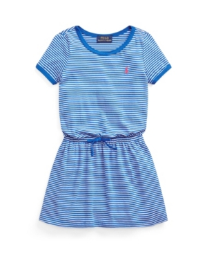 Polo Ralph Lauren Cottons LITTLE GIRLS STRIPED COTTON JERSEY T-SHIRT DRESS