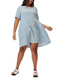 Trendy Plus Size Good Times Babydoll Mini Dress