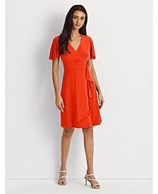 Petite Ruffle-Trim Jersey Dress