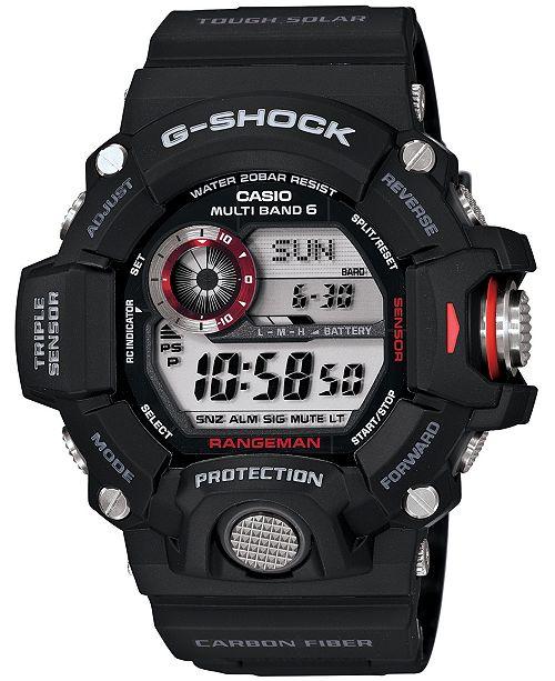 38e420a0e ... G-Shock Men s Digital Rangeman Black Resin Strap Watch 54x55mm GW9400-  ...