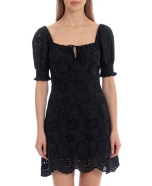 Avec Les Filles Mini dresses WOMEN'S EMBROIDERED PRAIRIE DRESS