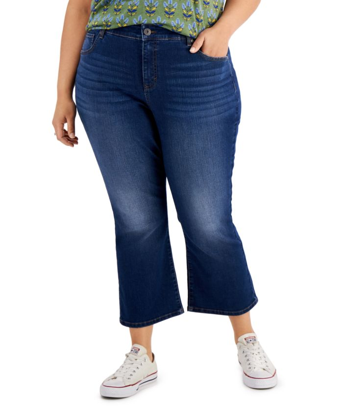 Style & Co Plus Size Kick Crop Jeans, Created for Macy's & Reviews - Jeans - Plus Sizes - Macy's