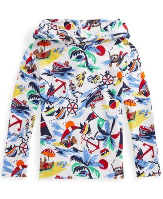 폴로 랄프로렌 Polo Ralph Lauren Little Boys Polo Bear Jersey Hooded T-shirt,Nautical Deco Bearwai