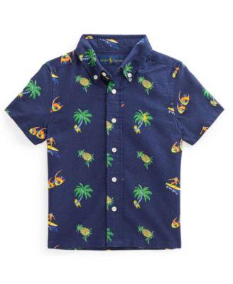폴로 랄프로렌 Polo Ralph Lauren Little Boys Tropical Print Oxford Shirt,Tropical Surfer