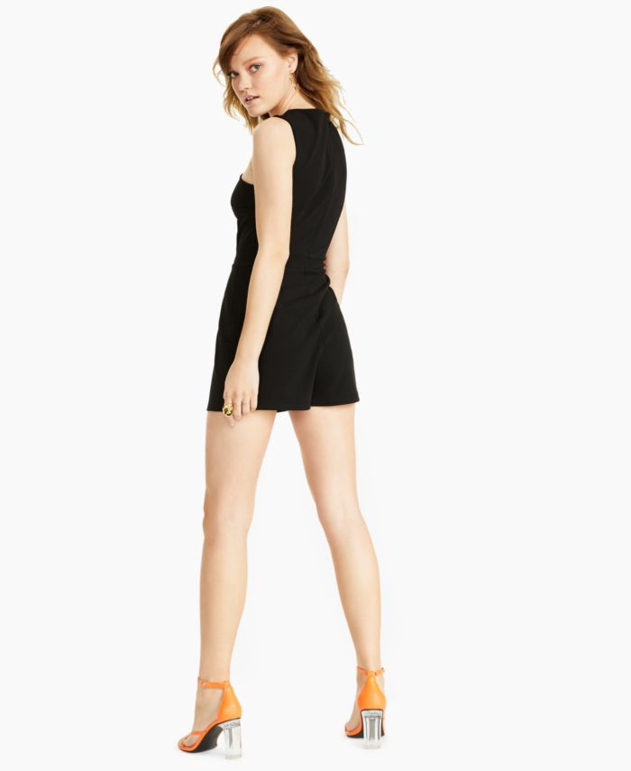 Bar III Cross-Front Romper, Created for Macy's & Reviews - Shorts - Women - Macy's