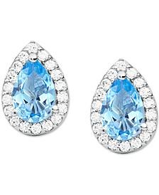 Sterling Silver Halo Stud Earrings