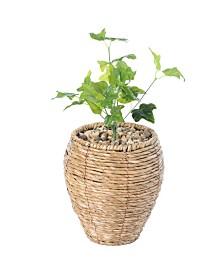 Woven Round Small Flower Pot Planter Basket