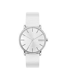 Men's Hagen Three-Hand White Silicone Watch, 40 mm