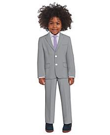 Toddler Boys Stretch Pinstripe Suit, 4-piece Set