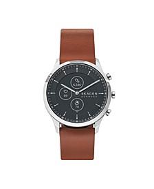 Men's and Women's Hybrid HR Jorn Brown Leather Strap Smart Watch 42mm