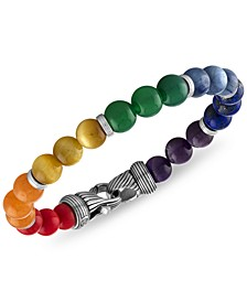Multi-Stone Rainbow Beaded Bracelet in Sterling Silver, Created for Macy's