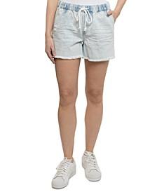 Juniors' Pull-On Boyfriend Shorts