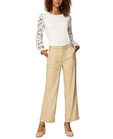 Wide-Leg Ankle-Length Pants