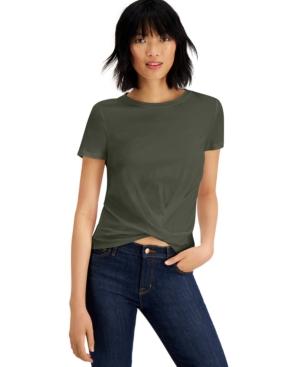 Cotton Twist-Front T-Shirt