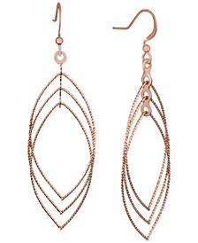 Rose Gold-Tone Orbital Drop Earrings, Created for Macy's