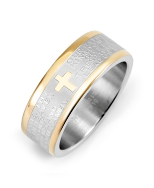 Men's Stainless Steel Lord's Prayer Ring