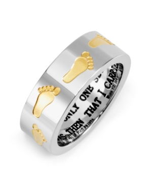 Men's Footprints in the Sand Stainless Steel Ring