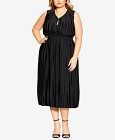 Plus Size Perfect Pleat Dress