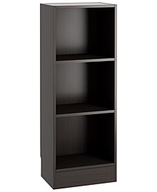 Berkley Ready-to-Assemble Short Narrow Bookcase, Quick Ship