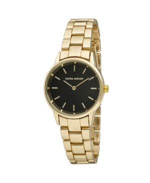 Women's Sunray Dial Gold-Tone Alloy Matte and Shiny Link Bracelet Watch 32mm