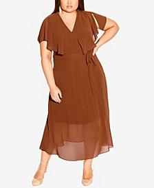 Plus Size Softly Tied Dress