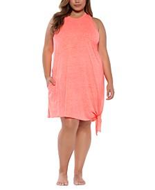 Trendy Plus Size Beach Date Asymmetrical Cover-Up Dress