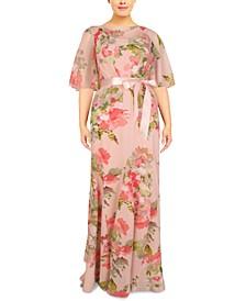 Plus Size Cowlneck Gown