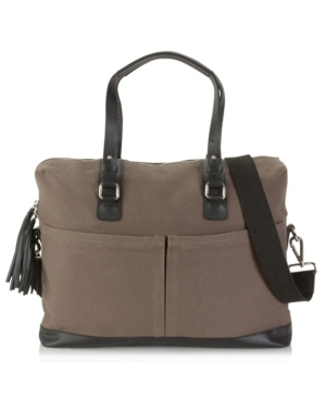 Canvas and Leather Work Bag