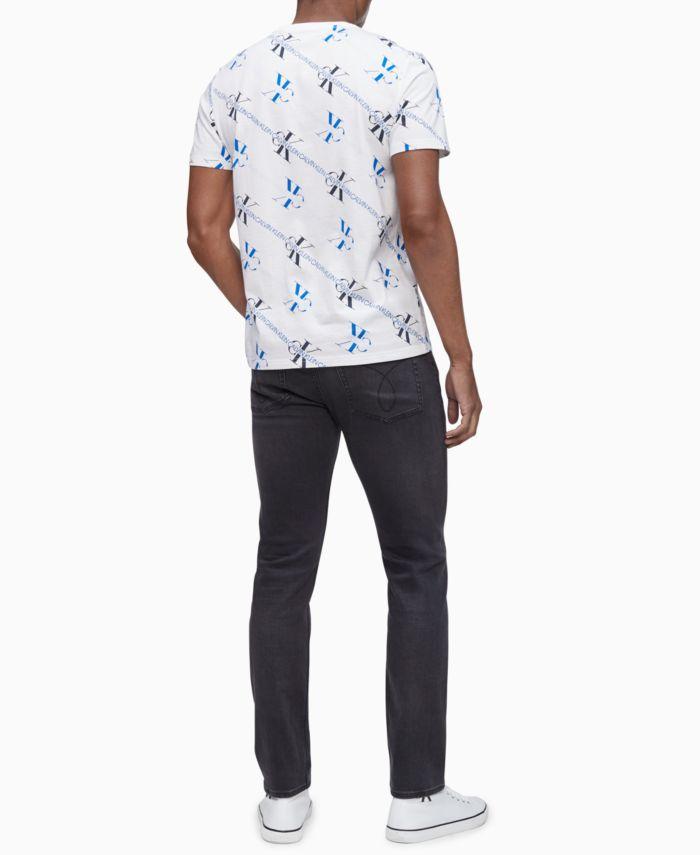 Calvin Klein Men's Diagonal Monogram T-Shirt  & Reviews - T-Shirts - Men - Macy's