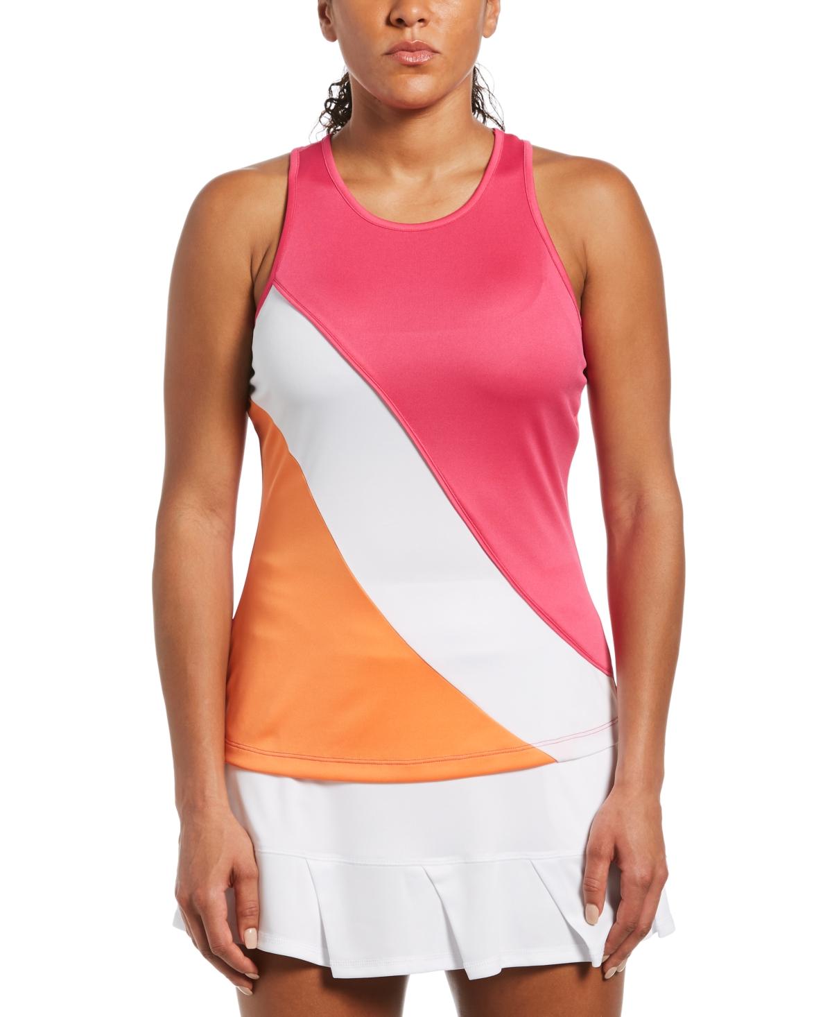 Women's Colorblocked Back-Cutout Tank Top