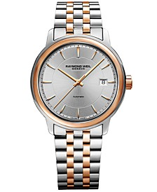 Men's Swiss Automatic Maestro Two-Tone Stainless Steel Bracelet Watch 39mm