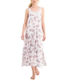Lace-Trim Sleeveless Nightgown, Created for Macy's