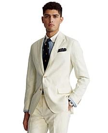 Men's Polo Soft Slub Linen Suit Jacket