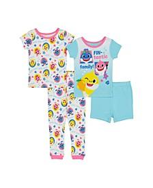 Toddler Girls Cotton 4 Piece Set