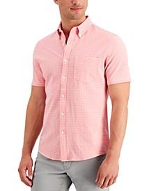 Men's Gingham Seersucker Slim-Fit Shirt