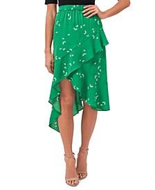 Asymmetrical Printed Skirt
