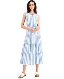 Cotton Striped Maxi Dress, Created for Macy's