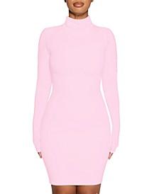 The NW Mock-Neck Mini Dress