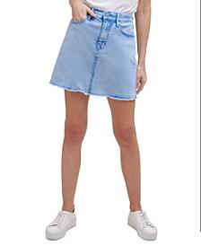 Acid-Washed Jean Skirt