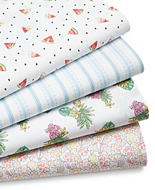 CLOSEOUT! Printed 200 Thread Count Sheet Sets, Created for Macy's