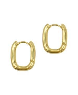 Rectangle Hoops Earrings