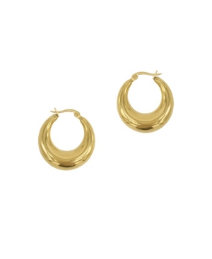 Adornia Earrings DOMED HOOPS EARRINGS