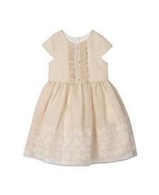 Toddler Girls Organza and Ruffle Bodice Dress