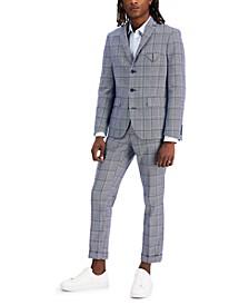 Men's Carter Slim-Fit Plaid Blazer, Created for Macy's