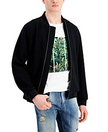 Men's Textured Knit Bomber Jacket, Created for Macy's
